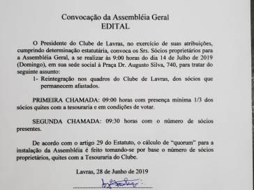 Edital de Convocação da Assembléia Geral