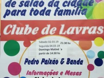 O Carnaval do Clube de Lavras esta  de volta!