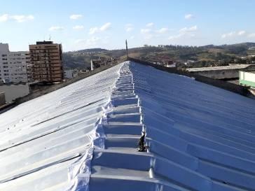 Troca do telhado do Salão Principal