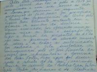 Ata da Inauguração da Nova Sede em 20/07/1957 folha 1/5 - Clube de Lavras