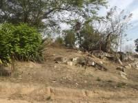 Tiroleza construída rampa de saída no afloramento de pedras